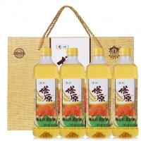 中粮塔原红花籽油900mlx4瓶礼盒