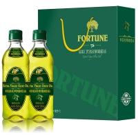 中粮福临门特级初榨橄榄油礼盒500ml*2瓶