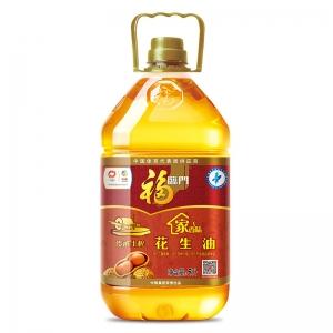 福临门食用油压榨一级传承土榨花生油5L
